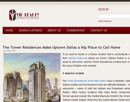 Hyperlocal blog example